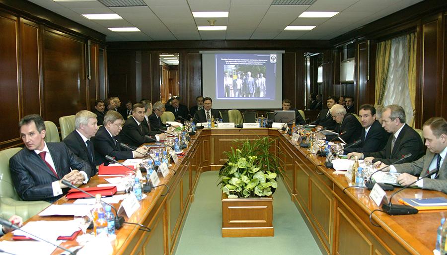 на V заседании Попечительского совета в зале заседаний Совета Федерации